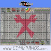 Ratmen Plastic Gaming Mat of 29 mm Squares with Dugouts - Sanabeso