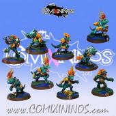 Lizardmen - Set of 9 Resin Baby Lizards - Fanath Art