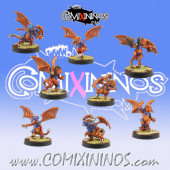 Lizardmen - Set of 8 Draconian Baby Dragons - Willy Miniatures