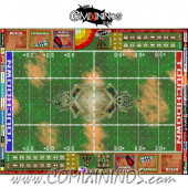 29 mm Skulls Plastic Gaming Mat with Crossed Dugouts - Comixininos