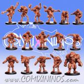 Frogmen - Amphibians Team of 16 Players with Big Guy - RN Estudio