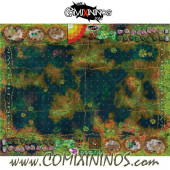 34 mm Frogmen Swamp Plastic Gaming Mat with Crossed Dugouts - Comixininos