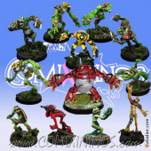 Frogmen - Team of 12 Players with Croacxigor Included - Mano di Porco