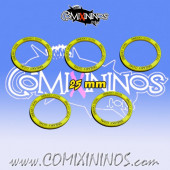 Set of 5 Sneaky Goal Skill Rings for 25 mm Bases - Comixininos