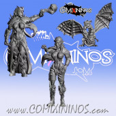 Dark Elves - Set of 3 Occulte Predators Coach, Sorceress and Dragon Mascotte - Games Miniatures