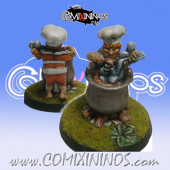 Halflings - Halfling Chef Chicken Devourers - SP Miniaturas
