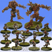Halflings - Complete Chicken Devourers Team of 16 Players with two Treemen - SP Miniaturas