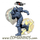 Humans - Resin Lions of Fire Human Blitzer nº 2 - SP Miniaturas