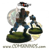 Humans - Metal Lions of Fire Human Catcher nº 1 - SP Miniaturas