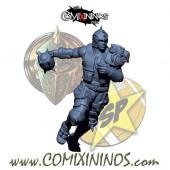 Humans - Metal Lions of Fire Human Thrower nº 1 - SP Miniaturas