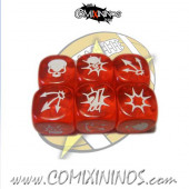 Set of 3 Red Block Dice - SP Miniaturas