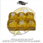 Set of 3 Yellow Block Dice - SP Miniaturas