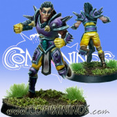 Wood / Pro / Dark Elves - Dark Shadow Twin Star Player - SP Miniaturas