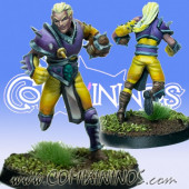 Wood / Pro / Dark Elves - Light Shadow Twin Star Player - SP Miniaturas