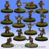 Halflings - Chicken Devourers Team of 14 Players without Treemen - SP Miniaturas