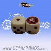 Set of 2d6 Spartan Dice White / Red - Meiko