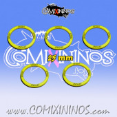 Set of 5 Sprint Skill Rings for 25 mm Bases - Comixininos