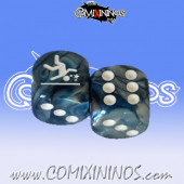 GFI Sprint nº 1 Skill Dice with Dots / Blue Color - Meiko