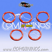 Set of 5 Stand Firm Skill Rings for 25 mm Bases - Comixininos