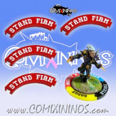 Set of 4 Red Stand Firm Puzzle Skills for 32 mm GW Bases - Comixininos