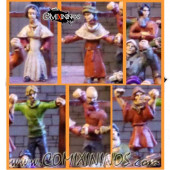 Standing Crowd - Set of 6 Miniatures - Sally 4th