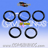 Set of 5 Strip Ball Skill Rings for 25 mm Bases - Comixininos