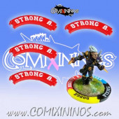 Set of 4 Red Strong Arm Puzzle Skills for 32 mm Bases - Comixininos