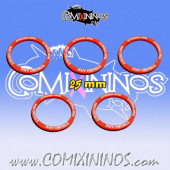 Set of 5 Strong Arrm Skill Rings for 25 mm Bases - Comixininos
