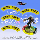 Set of 4 Yellow Sure Feet Puzzle Skills for 32 mm Bases - Comixininos