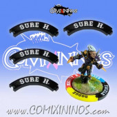 Set of 4 Black Sure Hands Puzzle Skills for 32 mm Bases - Comixininos