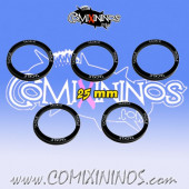 Set of 5 Tackle Skill Rings for 25 mm Bases - Comixininos