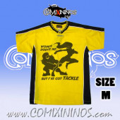 Deluxe T-Shirt - Women dodge me / Yellow with Black Strips - Size M