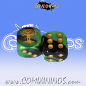Rooted nº 1 Skill Dice with Dots / Golden Tree Color - Meiko