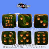 Take Root Dark Green Skill Dice - Euskal