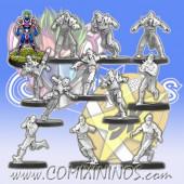 Elven Union - Star Elf Team of 12 Players - SP Miniaturas