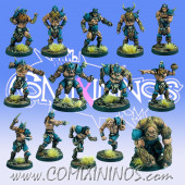 Norses - Legends of the North Team of 14 Players with Snow Troll - Goblin Guild