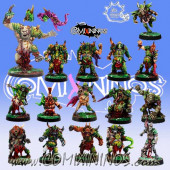 Rotten - Complete Team of 16 Players with Ogre Rotten Beast - Meiko Miniatures