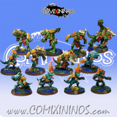 Lizardmen - Metal Lizardmen Team of 12 Players - Fanath Art