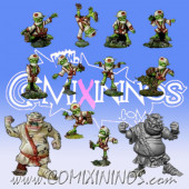 Goblins - Metal Tengu Team of 12 Players with two Ogres - Rolljordan