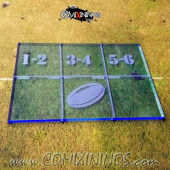Fantasy Football Throw In Template for 34 mm Pitches - Fluorescent Blue