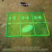 Fantasy Football Throw In Template for 34 mm Pitches - Fluorescent Light Green