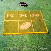 Fantasy Football Throw In Template for 34mm Pitches - Fluorescent Yellow