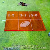 Fantasy Football Throw In Template for 34 mm Pitches - Transparent Orange