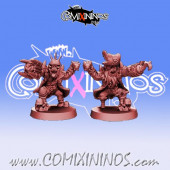 Orcs - Set of 2 Throwers Pirates of The Orc Bay - Games Miniatures