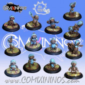 Halflings - Puppet All-Stars Team of 13 Players  - Meiko Miniatures