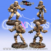 Orcs - Set B of 2 Female Orc Blitzers nº 3 and nº 4 – Baueda