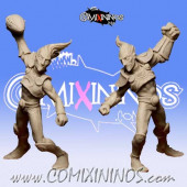 Wood / Pro / Dark Elves - Metal Twins Star Players - Iron Golems