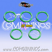 Set of 5 Two Heads Skill Rings for 25 mm Bases - Comixininos