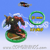 Set of 5 Two Heads Skill Rings for 32 mm Bases - Comixininos