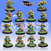 Halflings - Ultimate Team of 14 Players without Treemen - Willy Miniatures